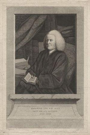 Edward Lye - Engraving of Edward Lye by Thomas Burke (1784), after a portrait by Frances Reynolds.