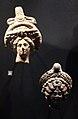 Egitto, testine con la corona di isis-hathor, II-III sec. ca..JPG