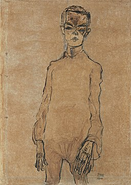 Egon Schiele - Selbstporträt (1910)