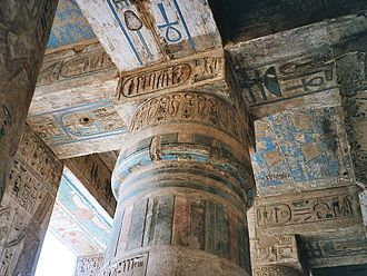 Peristyle - Ceiling decoration in the peristyle hall of the Medinet Habu