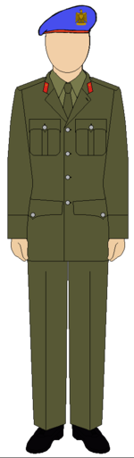 Military suit of the Egyptian Republican guard police forces