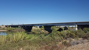 Ehrenberg, Arizona - Interstate 10/US Route 95 Colorado River bridge as seen from Ehrenberg