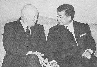 Kingdom of Cambodia (1953–1970) - Eisenhower and Sihanouk in 1959.