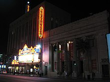 Exterior shot of the El Capitan Theatre.