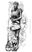 Mummy of the Emperor Charles V located in El Escorial, copied from the natural, of Martín Rico, in La Ilustración Española y Americana, 1872.