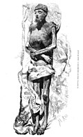 El Escorial, momia del emperador Carlos V, copiada del natural, de Rico.jpg