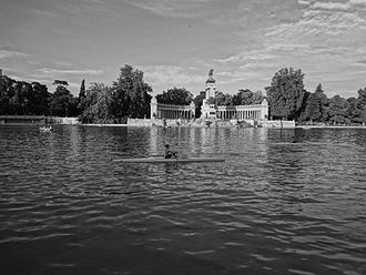 Monument to Alfonso XII - El Retiro Park in Madrid, Spain ' Monument to Alfonso XII of Spain