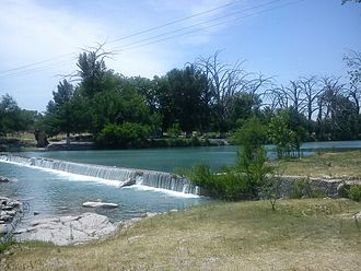 Sabinas River - The Sabinas is a flowing river, a rarity in the Chihuahua Desert.