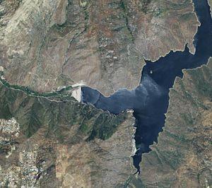 El Capitan Dam - Satellite view