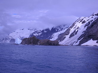 Elephant Island - Summer view of the same beach where Shackleton's crew spent a winter waiting for rescue.