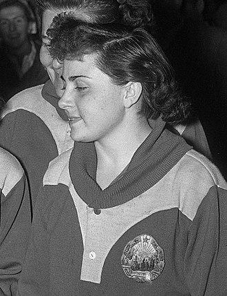 Ella Zeller - Ella Zeller at the 1955 World Championships