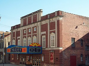 National Register of Historic Places listings in Mifflin County, Pennsylvania - Image: Embassy Theatre Lewistown PA Apr 10