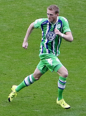 André Schürrle - Schürrle playing for Wolfsburg versus Arsenal in the Emirates Cup 2015
