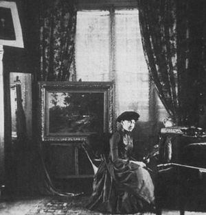 Emma Lampert Cooper - Emma Lampert Cooper, in her studio, circa 1900