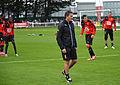 Entrainement SRFC Dinan 20150902 - Montanier et joueurs.JPG