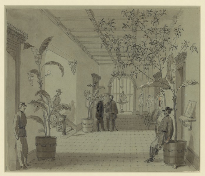 File:Entrance Hall of Mr Chas. Green's house, Savannah Ga, now occupied as Head Quarters by Gen Sherman - Original scan.tiff
