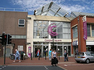 Burton upon Trent - Entrance to Cooper's Square shopping centre, Burton town centre