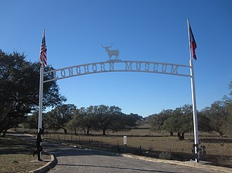 Pleasanton, Texas - Entrance to Longhorn Museum on Texas State Highway 97 on the east side of Pleasanton