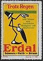 Erdal - Trotz Regen, Reklamemarke 1914.jpg