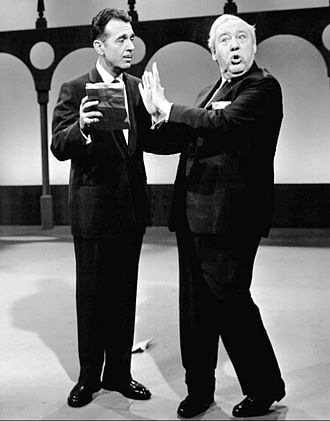 """The Ford Show - Ford asks his guest star, Charles Laughton, to read a poem from the """"brown paper bag"""" poet, Fred Wobbly."""