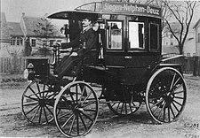 The first internal combustion bus, 1895 (Siegen to Netphen in Germany) Erste Benzin-Omnibus der Welt.jpg