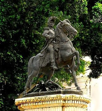 Francisco Morazán - Equestrian statue of Morazán located in Tegucigalpa's Central Square
