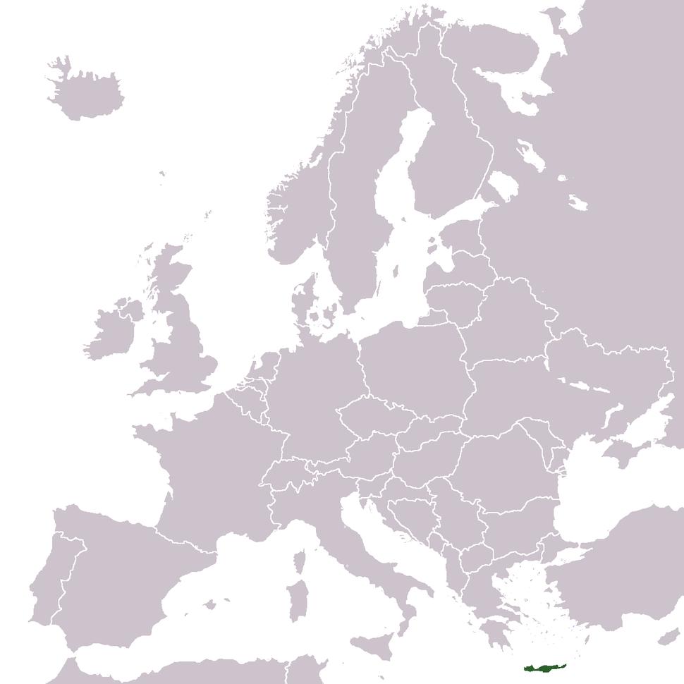 Europe location Crete