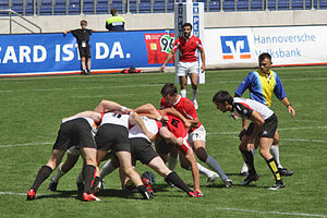 European Sevens 2008, Germany vs Georgia, scrum.jpg