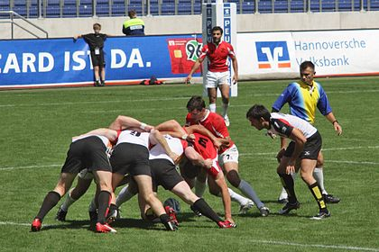 A sevens scrum European Sevens 2008, Germany vs Georgia, scrum.jpg