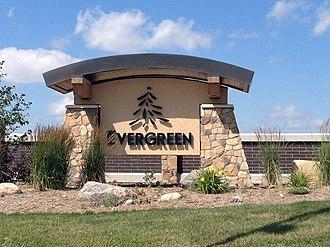 Evergreen, Saskatoon - Evergreen entrance sign