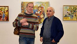Exhibition of Spartak Arutunyan in Minsk 22.03.2015 07.JPG
