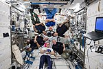 Expedition 54 inflight crew portrait in the Kibo lab.jpg