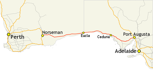 Map Of Australia Highways.Eyre Highway Travel Guide At Wikivoyage