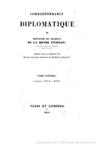 File:Fénelon - Correspondance diplomatique, tome 6.djvu