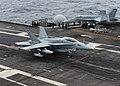 F-18C of VFA-34 landing on USS Ronald Reagan (CVN-76) in March 2014.JPG