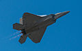 F-22 Raptor with a high speed takeoff (7674470134).jpg