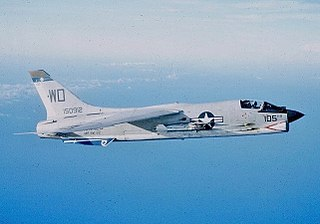 Vought F-8 Crusader carrier-based fighter aircraft