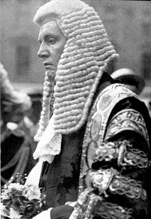 F. E. Smith, 1st Earl of Birkenhead - Sir F. E. Smith, newly created Lord Birkenhead, on his appointment as Lord Chancellor