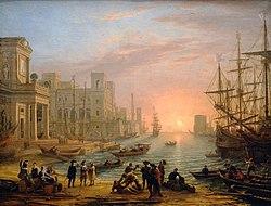 Claude Lorrain: Sea Port at Sunset