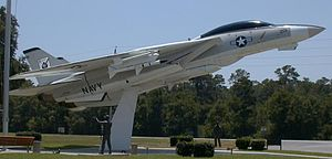 National Naval Aviation Museum - F-14A Tomcat on display in front of the National Naval Aviation Museum (right side view)