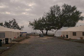English: Cameron, LA, 11-10-05 -- FEMA Base ca...