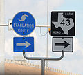 FEMA - 38218 - Hurricane Evacuation Route Road sign in Texas.jpg