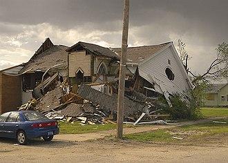 Bradgate, Iowa - Methodist church destroyed in the 2004 tornado
