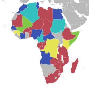 AfroBasket - Map of best finishes per country.