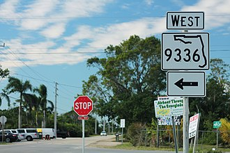 Florida State Road 9336 - Image: FL9336w Sign Florida City
