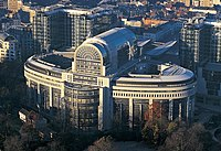 Clădirea Espace Léopold din Bruxelles, Belgia