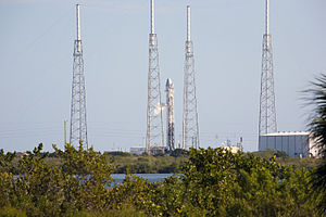 Falcon 9 at a test for COTS-2 launch.jpg