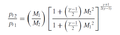 Fanno flow expression provides the decline in total pressure.png