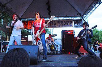 Fastbacks - The Fastbacks at a 2011 reunion gig. Left to right: Kurt Bloch, Kim Warnick, Mike Musburger (rear), Lulu Gargiulo
