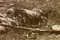 Federal soldier disembowelled by a shell- Gettysburg-3July1863.png